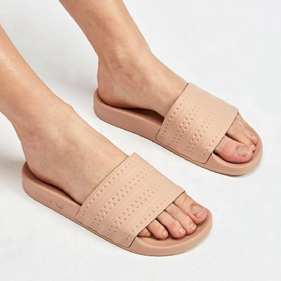 c3dbca487 adidas Shoes | Womens Ash Pearl Adilette Slides Sandals | Poshmark